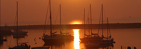 eco travel,Eco bike tours  - sunset in harbor